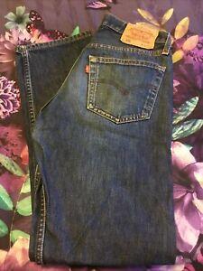 Mens LEVI 501 jeans 32 waist 32 leg Worn Twice