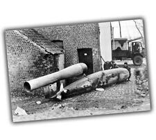 War Photo German V-1 rocket, fallen in the village of Grimbergen, Belgium 4x6 Q