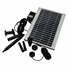 600 Lph Solar Powered Water Feature Pump with Battery Back Up and Led Light
