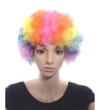 années 80 bouclé Perruque afro fête CLOWN DISCO enfants adulte Costume Rainbow