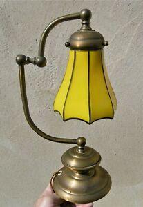 Lampe d'époque art nouveau,art deco:Tulipe en verre souffl�� pointes étirées