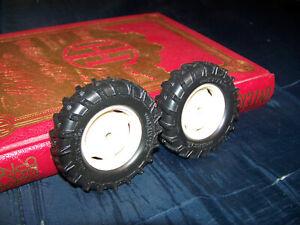 Parts, Allis Chalmers 8010 FWA front wheels, 1/16, Ertl, Plastic rims, custom AC