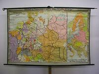 Schulwandkarte schöne alte Europakarte 1650 Deutschland 200x133 1954 vintage map