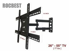 LED LCD TV Wall Mount Bracket Tilt Swivel 26 29 37 39 40 42 47 50 55 Screen