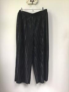 Gorgeous Ladies Patternity + John Lewis Black Pleated Wide Leg Trousers, UK M,