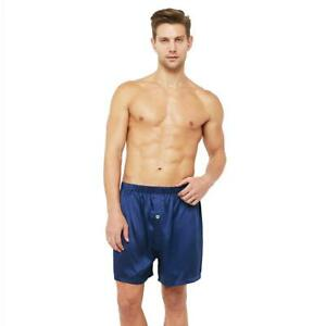 Classic Silk Lounge Boxer Shorts with Elastic Waist Band (22 Momme)