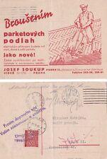Checoslovaquia 1940 adver Tarjeta de Praga y local dirigida. {ver abajo}