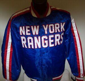 NEW YORK RANGERS Starter Snap Down Jacket BLUE  3X 4X 5X 6X