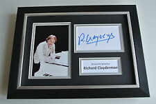 Richard Clayderman SIGNED A4 FRAMED Photo Autograph Display Piano Music & COA