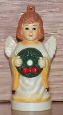 Genuine Vintage Rtc 1988 Angel With Wreath Plastic Christmas Ornament Only *Read