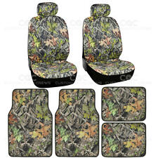2 Front Low-Back Camo Seat Covers w/ 4pc Camo Floor Mats - Camouflage Hunting