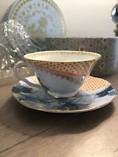 New in box Wedgwood  Teacup &  Saucer Tea  multicolor.
