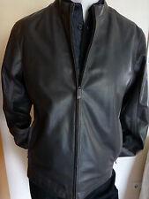 Top ~ Ermenegildo Zegna señores VILLO-chaqueta de cuero ** 2 en 1 ** talla 48/50 ** gris ** nuevo **