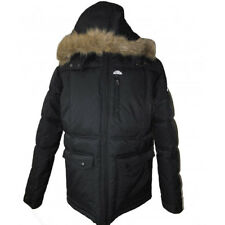 Ellesse Womens Jacket Hooded Winter Faux Warm Nylon Padded Parka Style Coat