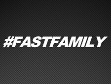 #FASTFAMILY Fast & Furious Car window or Bumper Sticker Fast & Furious Family