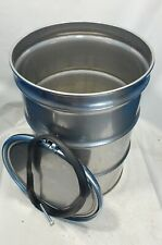 Used 55 Gallon Stainless Steel Barrel Drum Open Top 304 Rare Find
