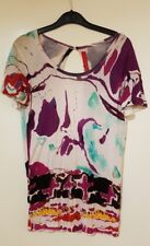 VINTAGE CHRISTIAN LACROIX ABSTRACT PRINTED OPEN BACK TEE TOP ONE SIZE