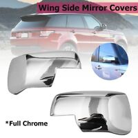 Full Chrome Wing Mirror Covers For Land Rover Range Sport Freelander 2 Discovery