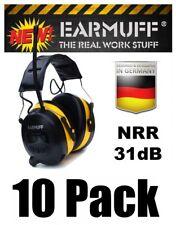 (10) 31dB WIRELESS YELLOW HEADPHONES Digital AM FM Radio MP3 Protection Ear Muff
