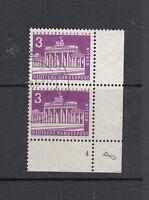 Berlin Mi-Nr. 231 als Paar + Bogenecke / Eckrand + FN 4 Formnummer 4 gestempelt