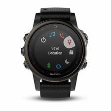 Garmin fenix 5S Black Sapphire with Black Band Multisport GPS Watch 010-01685-10