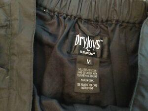 Footjoy Womens Golf DryJoy HydroLite Rain Pants Black  NWOT Sz M
