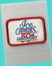 """Vintage 1989 Ice Capades 50th Anniversary 3"""" Skating Patch Excellent/Near Mint"""