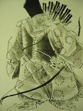 MONKEY ARCHER ORIGINAL PAINTING Japanese warrior Asian Hokusai style TATTOO