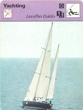 FICHE CARD Pen Duick V Sloop VI Ketch VII Trimaran 600 Voilier Yacht 70s