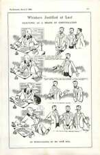 1908 René Bull Cartoon, Face Fungi, Whiskers Justified At Last