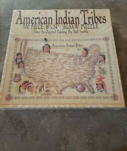 500 Piece Puzzle Native American Indian Tribes From Oil Painting Bill Stroble