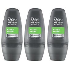 3 x Dove Extra Fresh Men+Care Anti-Perspirant Deodorant Roll On 50Ml
