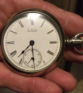 Vintage Waltham 18 Size Side Winder Pocket Watch