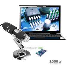 8 LED 1000X USB support de caméra numérique Microscope Endoscope Loupe vidéo