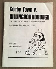 More details for corby town v hillingdon borough fa challenge trophy 2nd round proper  31/1/1970