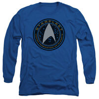 STAR TREK BEYOND STARFLEET Licensed Men's Long Sleeve Graphic Tee Shirt SM-3XL