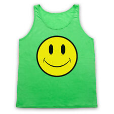 ACID HOUSE SMILE FACE XL NEON GREEN TANK TOP VEST