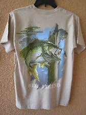REEL LEGENDS MEN'S SMALL SAND  LARGE MOUTH BASS T-SHIRT (NWT) SHORT SLEEVE
