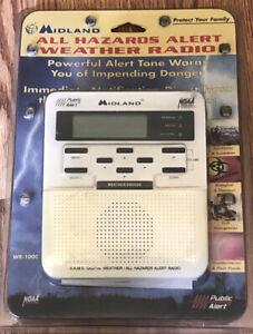 Weather Radio Alert MIDLAND - All Hazard Alert Weather Radio WR-100C Brand New