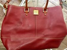 Dooney Bourke Pebbled Leather Chelsea Satchel Tote Shoulder Bag Burgundy Red