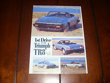 TRIUMPH TR8     - ORIGINAL 1999 ARTICLE