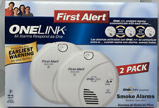 First Alert ONELink Enabled Wireless Battery Operated Smoke Alarms - 2 Pack