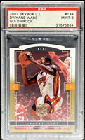 Dwyane Wade 2003-04 Fleer Skybox LE Gold Proof Rookie RC #/150 PSA 9 POP 1