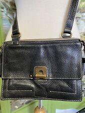 Ameko Cross Body Bag Handbag Black Leather Soft