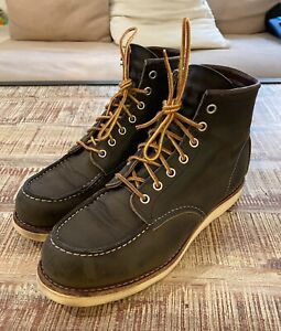 Red Wing 8890 Men's Leather Moc Toe Lace Up Size 9D