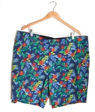 Hawke & Co Floral Board Shorts Blue Mens 42 Birds of Paradise Palm Leaves Trunks