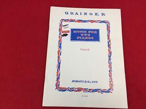 Grainger - Music For Two Pianos - Volume 2 - Schott & Co. - Music Book -