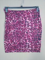 Women's White Mark Red Animal Print Elastic knee Length Pencil Skirt Size XL