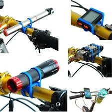 Fahrrad Universal Taschenlampe Tacho Werkzeug Luftpumpe Halter Farbe blau