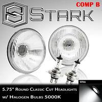 "H5001 / H5006 Head Light Glass Housing Conversion Lamp 5.75"" Round H4 - PAIR (B)"